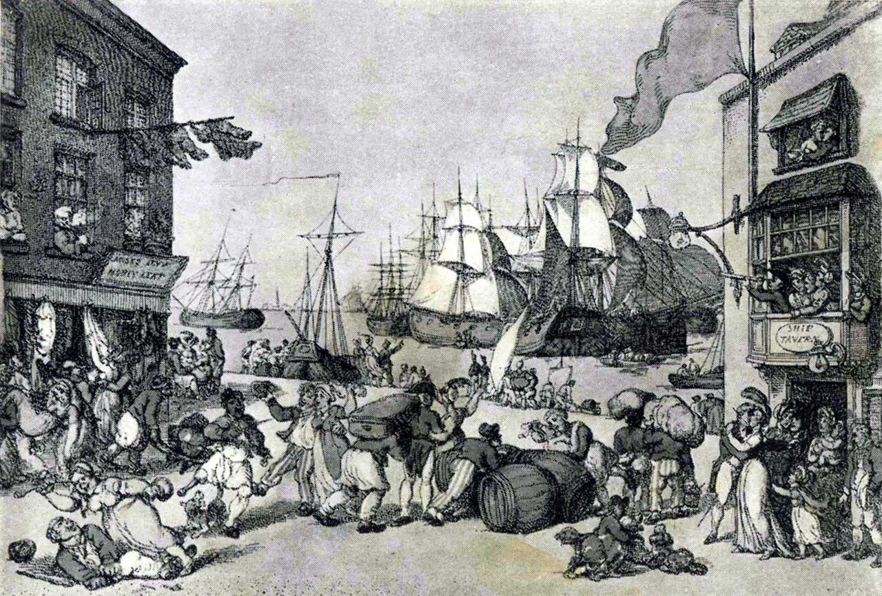 Hampshire, Portsmouth, The Arrival of the Fleet 18th century